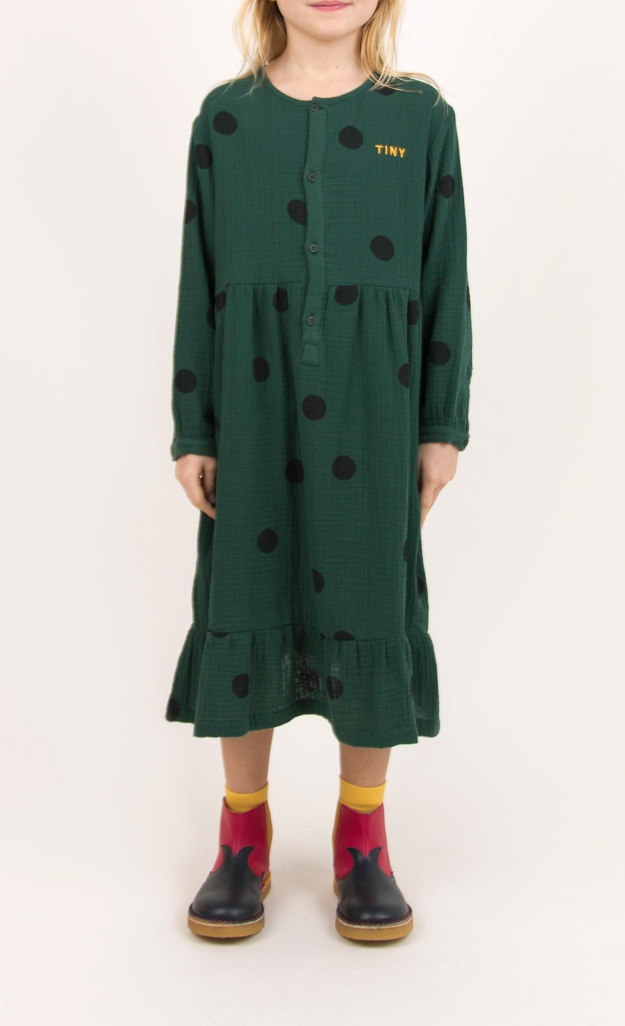 Big dots dress - Dark Green / Black-2