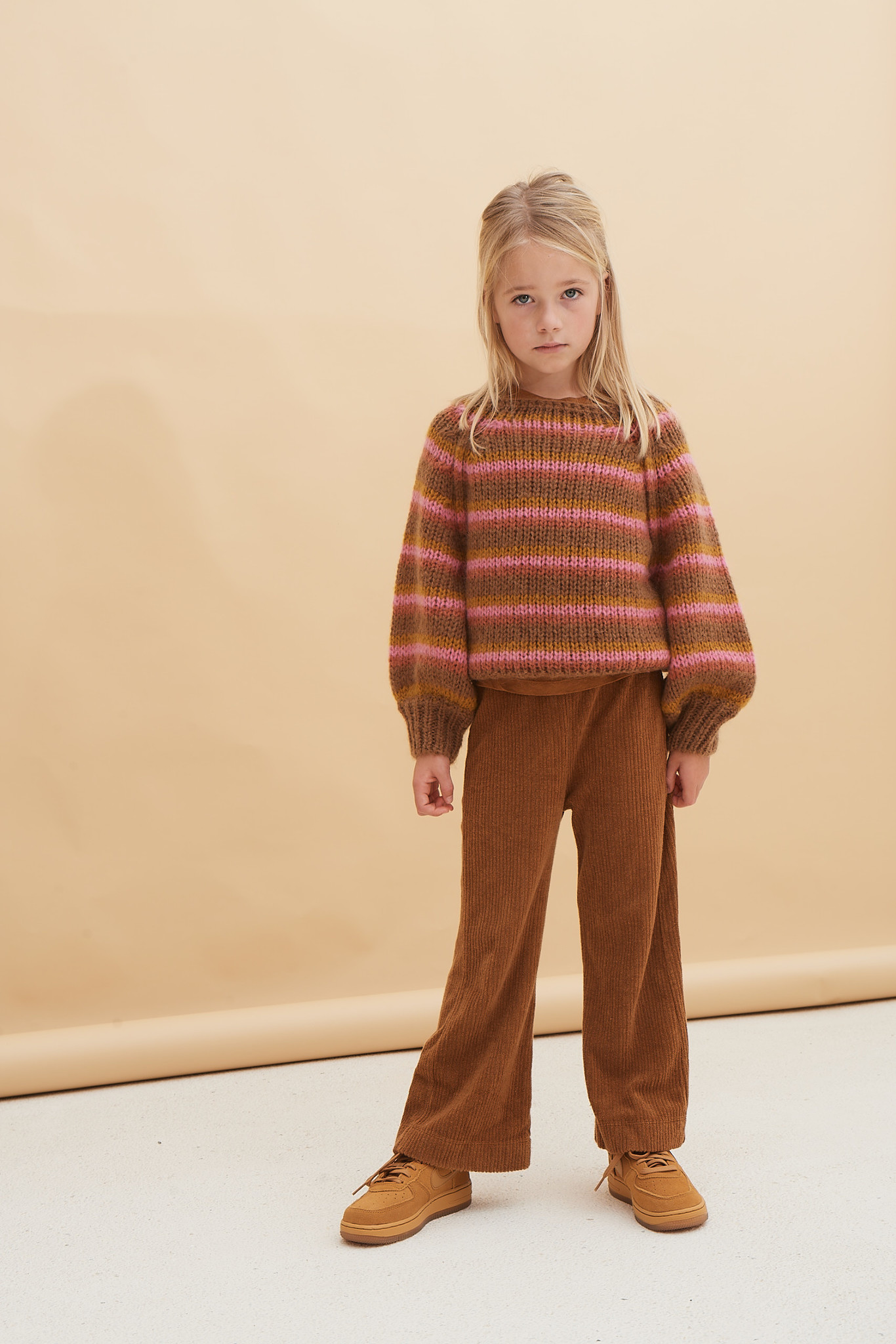 Flared pants - Golden Brown-2