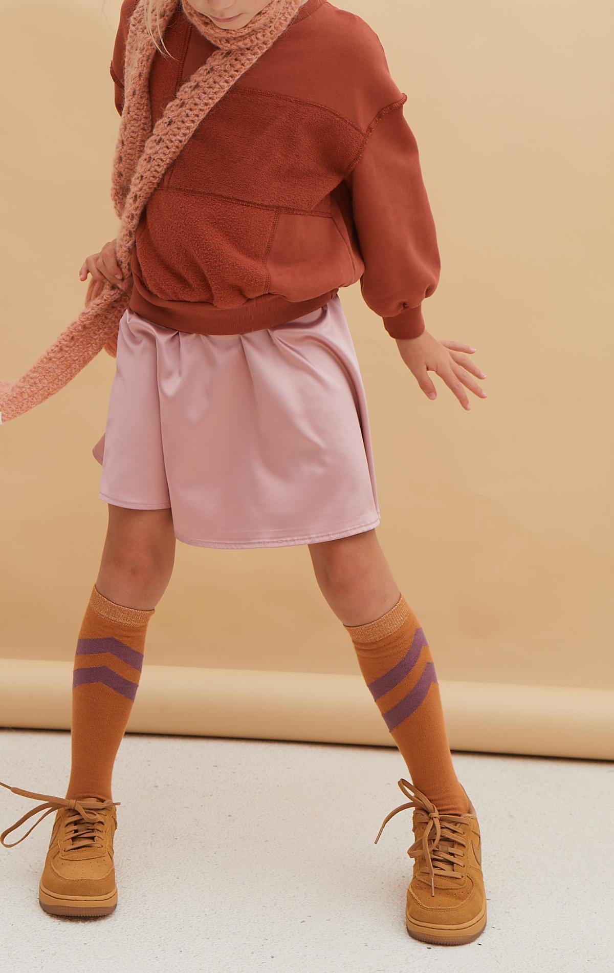Flared satin skirt - Ballerina-2