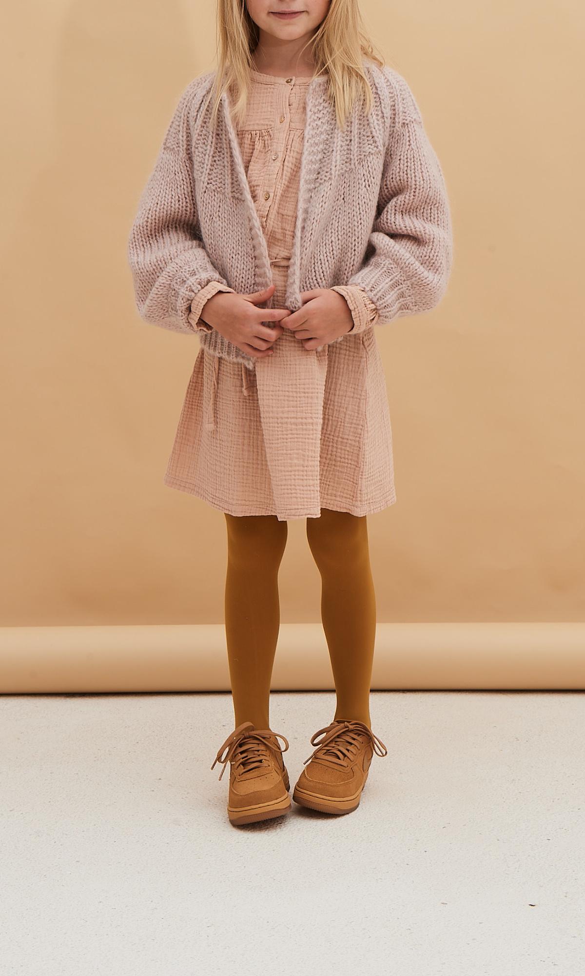 Crinkle dress - Rose Beige-2