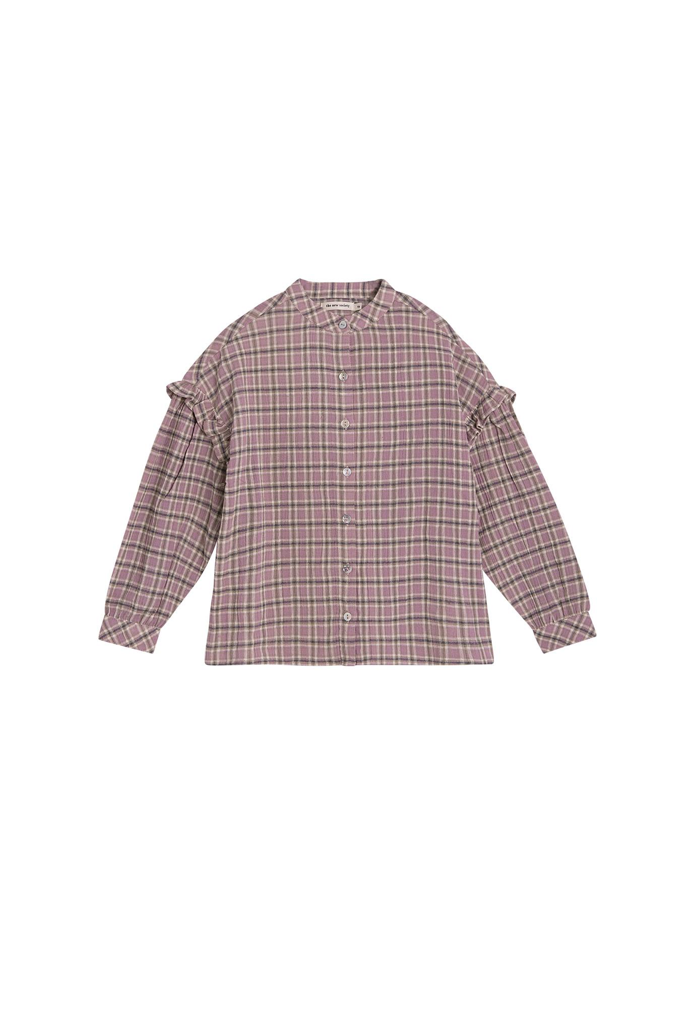 Bella blouse - Check Lavanda-1