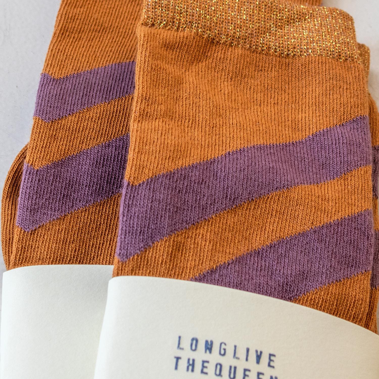 Striped socks - Inca Gold-3