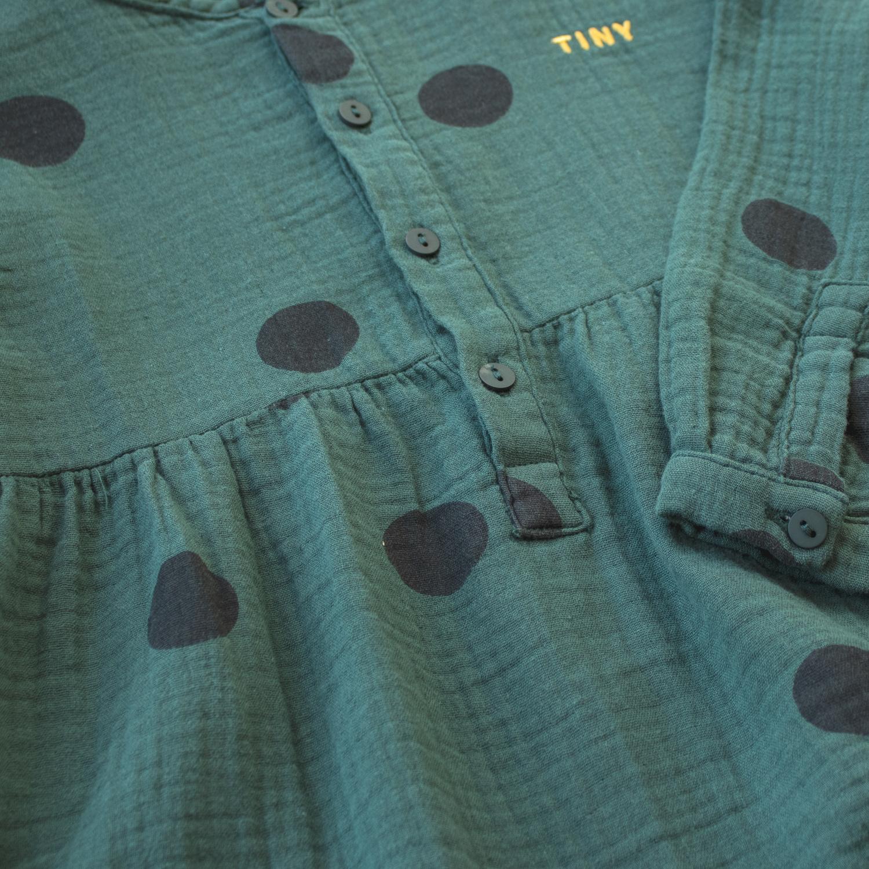Big dots dress - Dark Green / Black-3