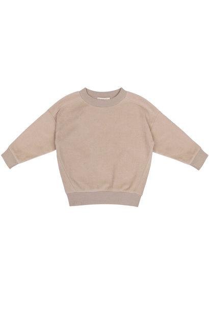 Oversized teddy sweater - Straw