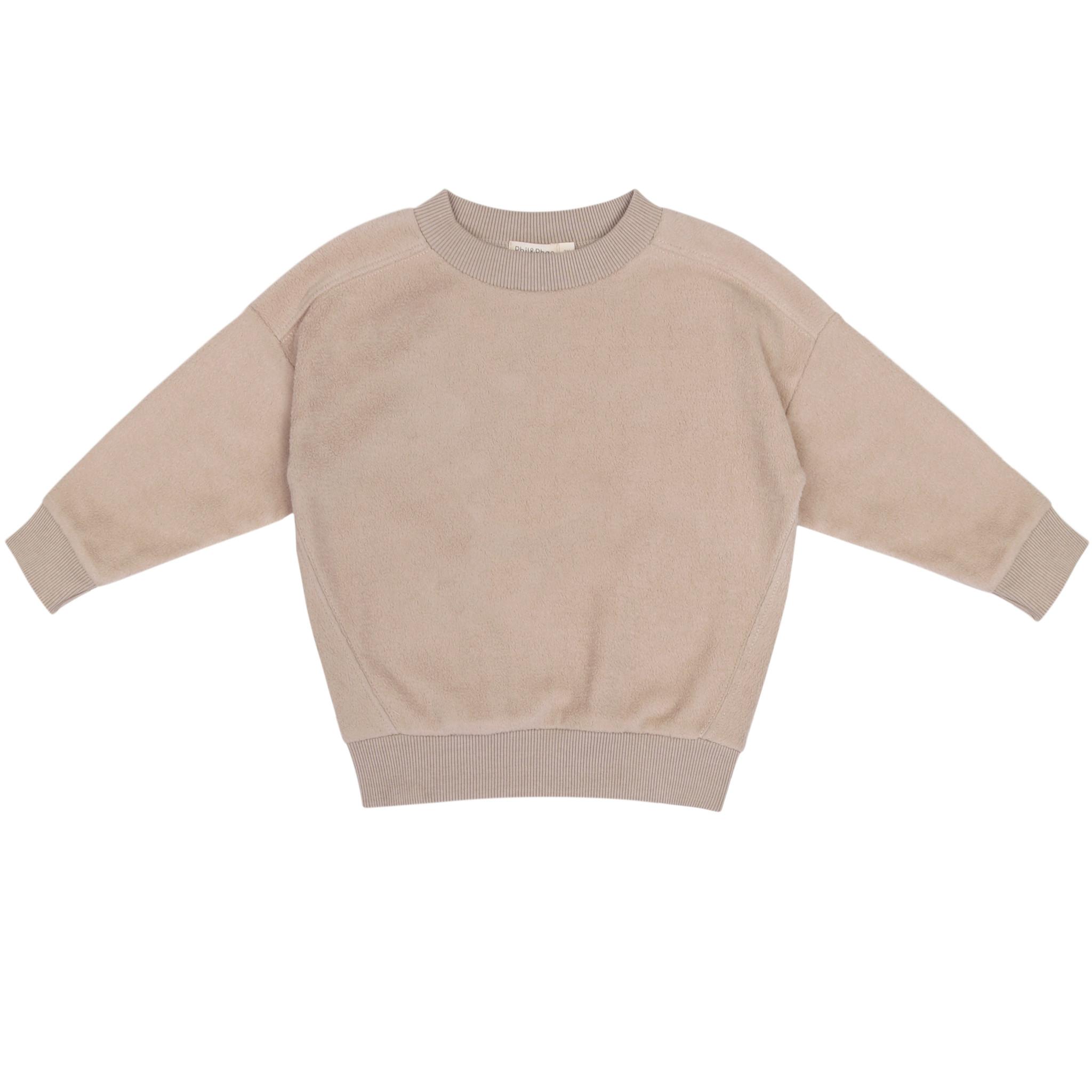 Oversized teddy sweater - Straw-1