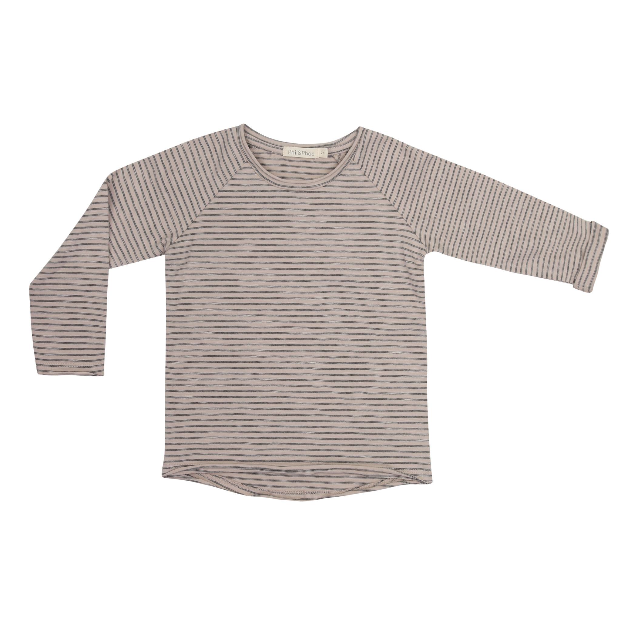 Raglan tee stripes l/s - Straw-1