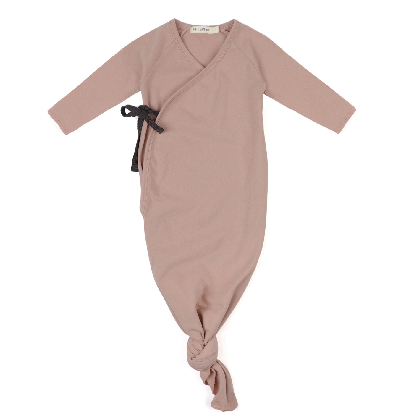 Knotted baby gown - Vintage Blush-1