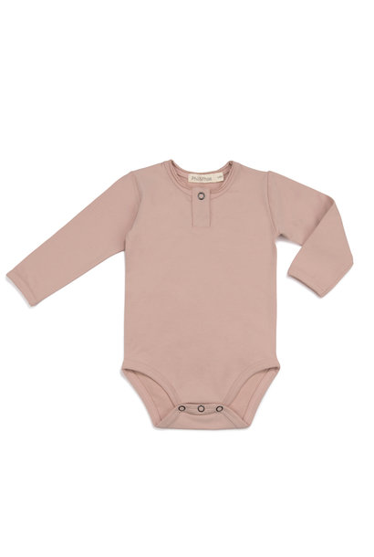 Henley body l/s - Vintage Blush