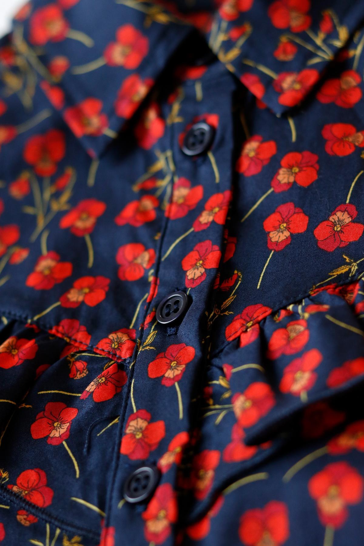 Moony blouse - Liberty Marine Poppy-4