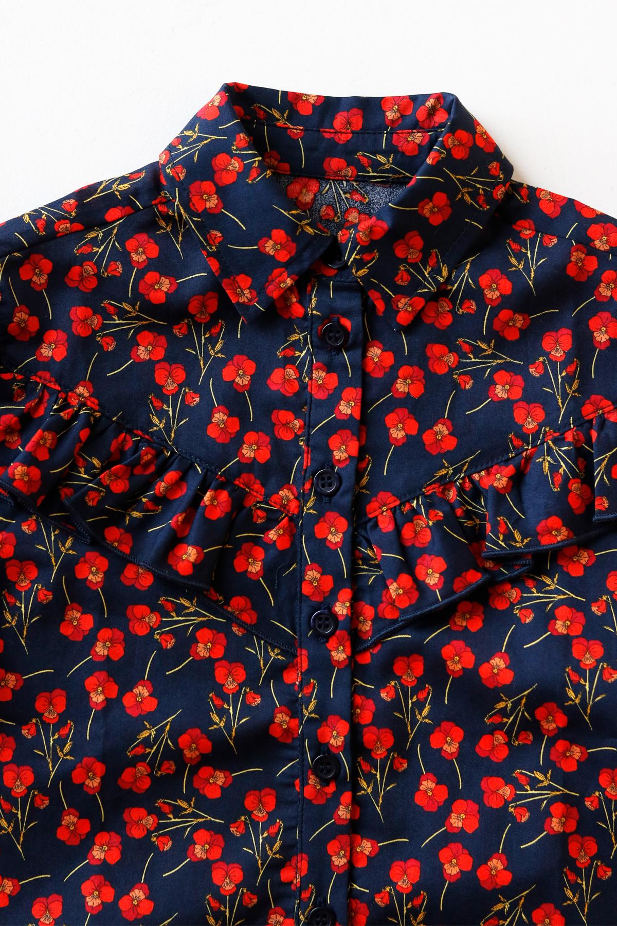 Moony blouse - Liberty Marine Poppy-3