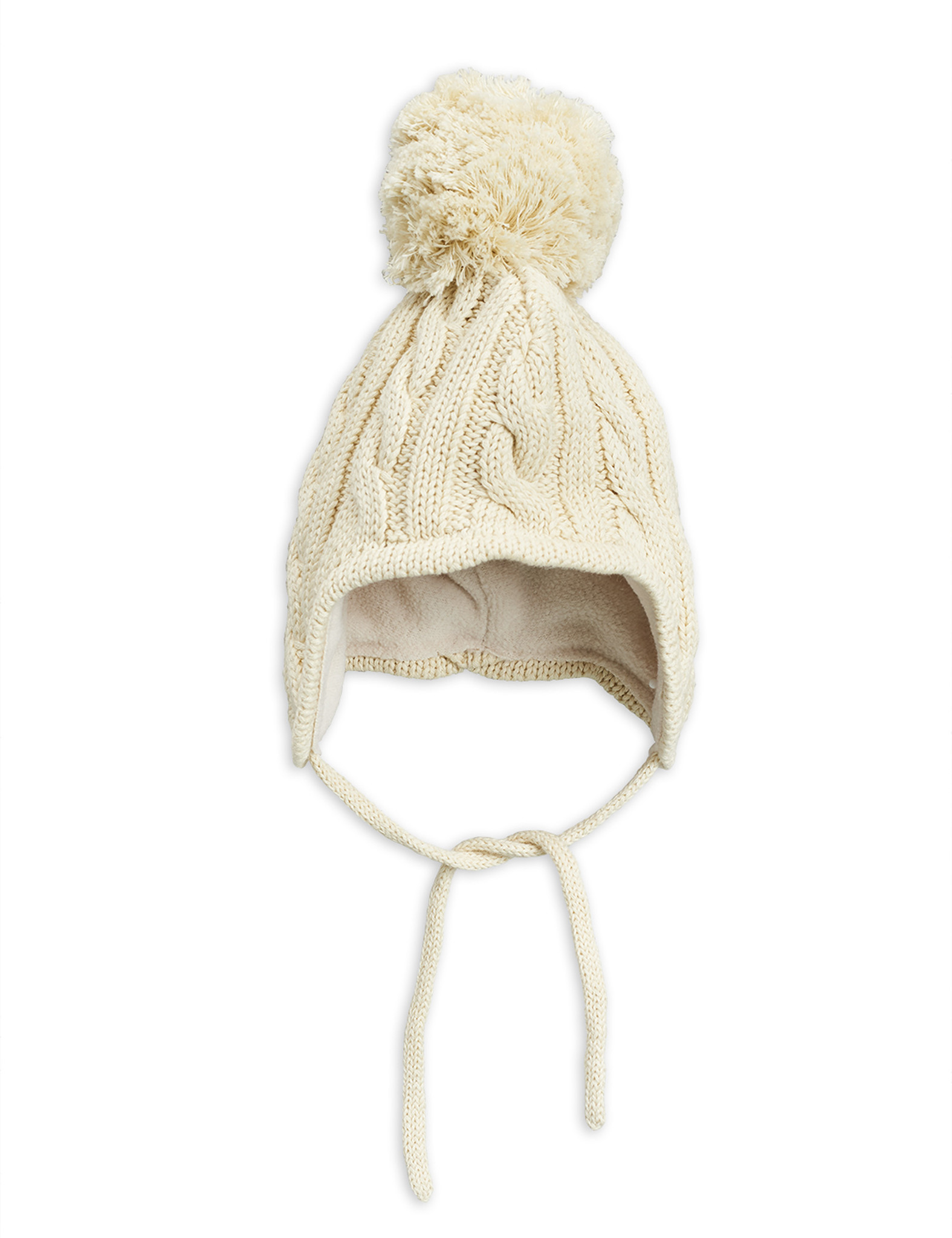 Cable knitted baby hat - Offwhite-1