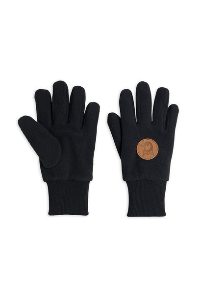 Fleece gloves - Black