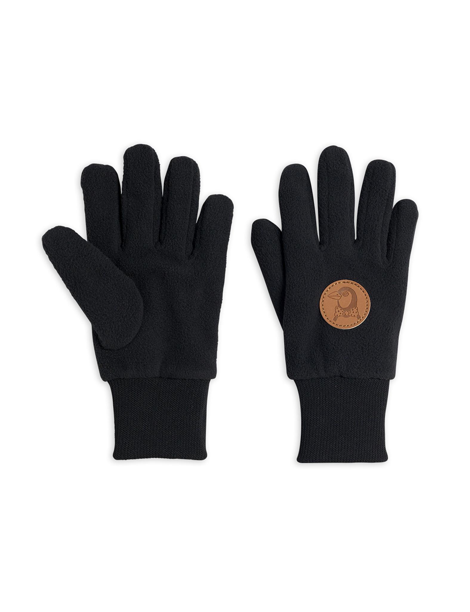 Fleece gloves - Black-1