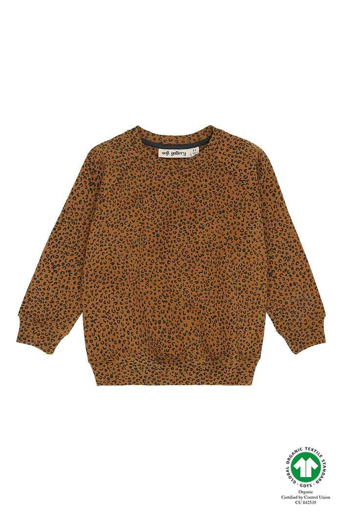 Chaz sweatshirt - Golden Brown Leopspot-1
