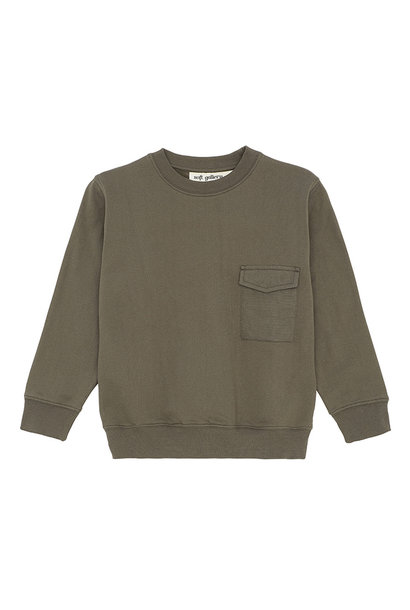 Baptiste sweatshirt - Olive Night