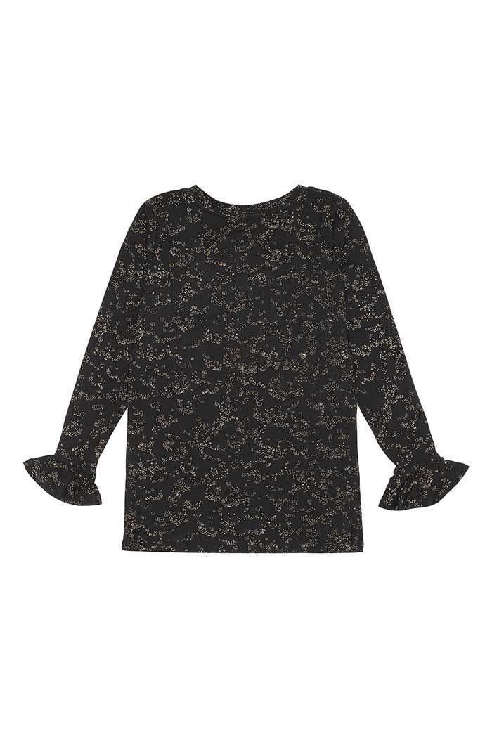 Elia t-shirt - Flowerdust Jet Black-2