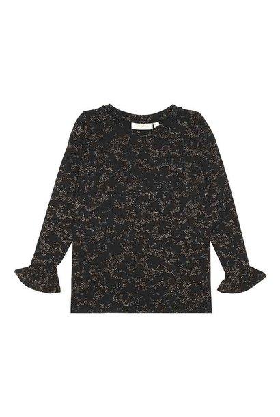 Elia t-shirt - Flowerdust Jet Black