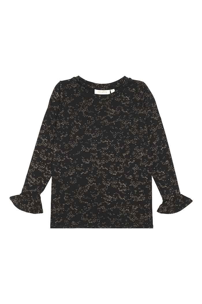 Elia t-shirt - Flowerdust Jet Black-1