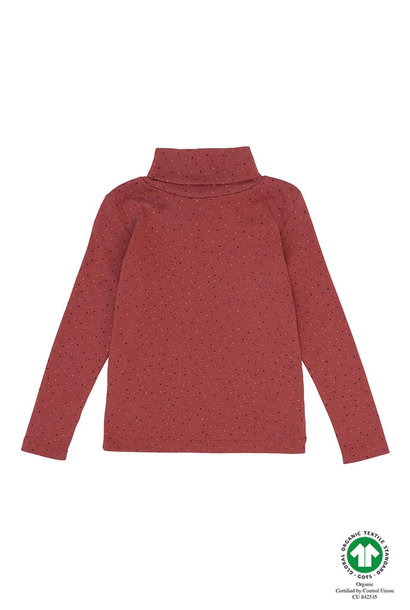 Ena top - Trio Dotties Barn Red