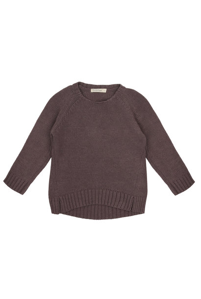 Cashmere blend knit sweater - Dried Lavender