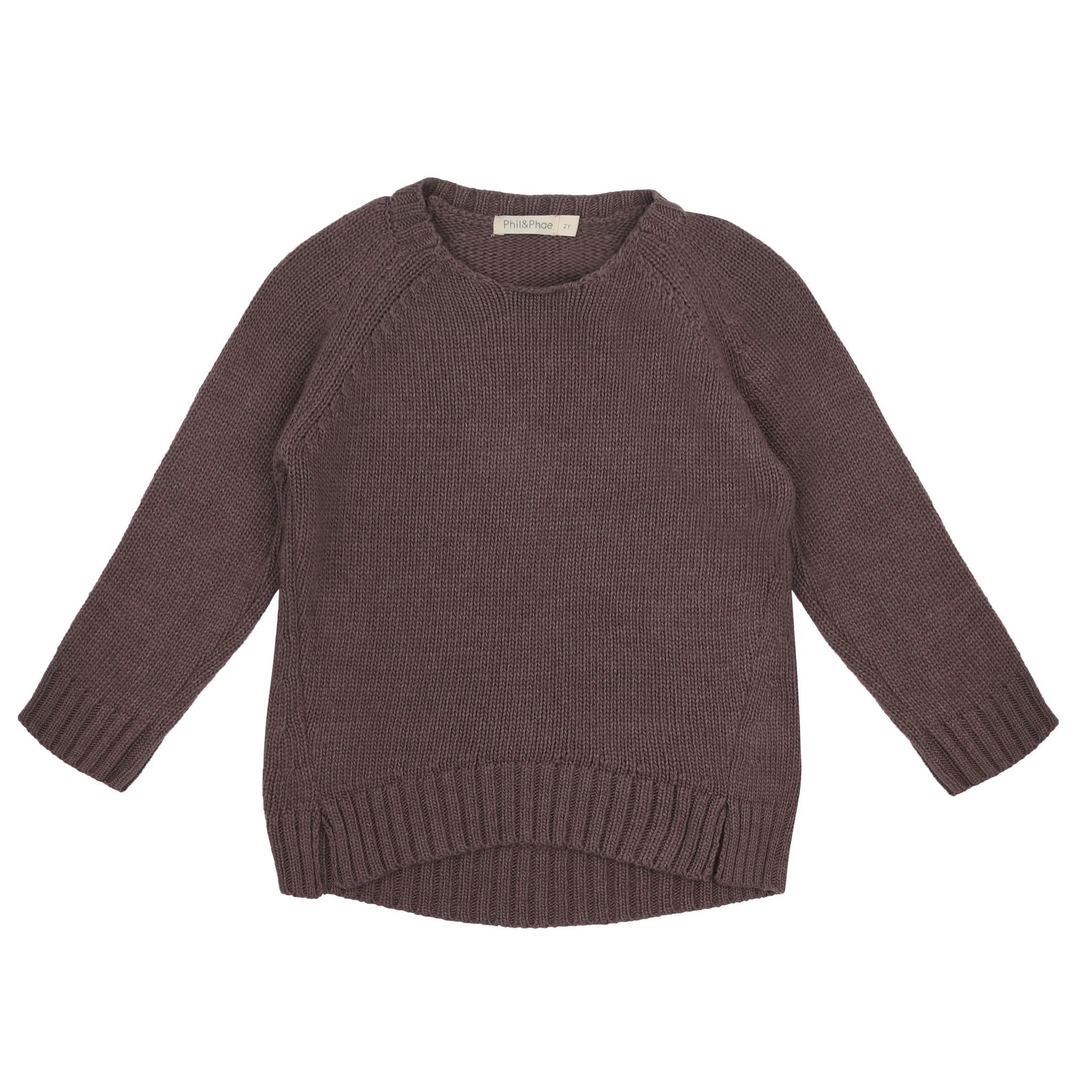 Cashmere blend knit sweater - Dried Lavender-1