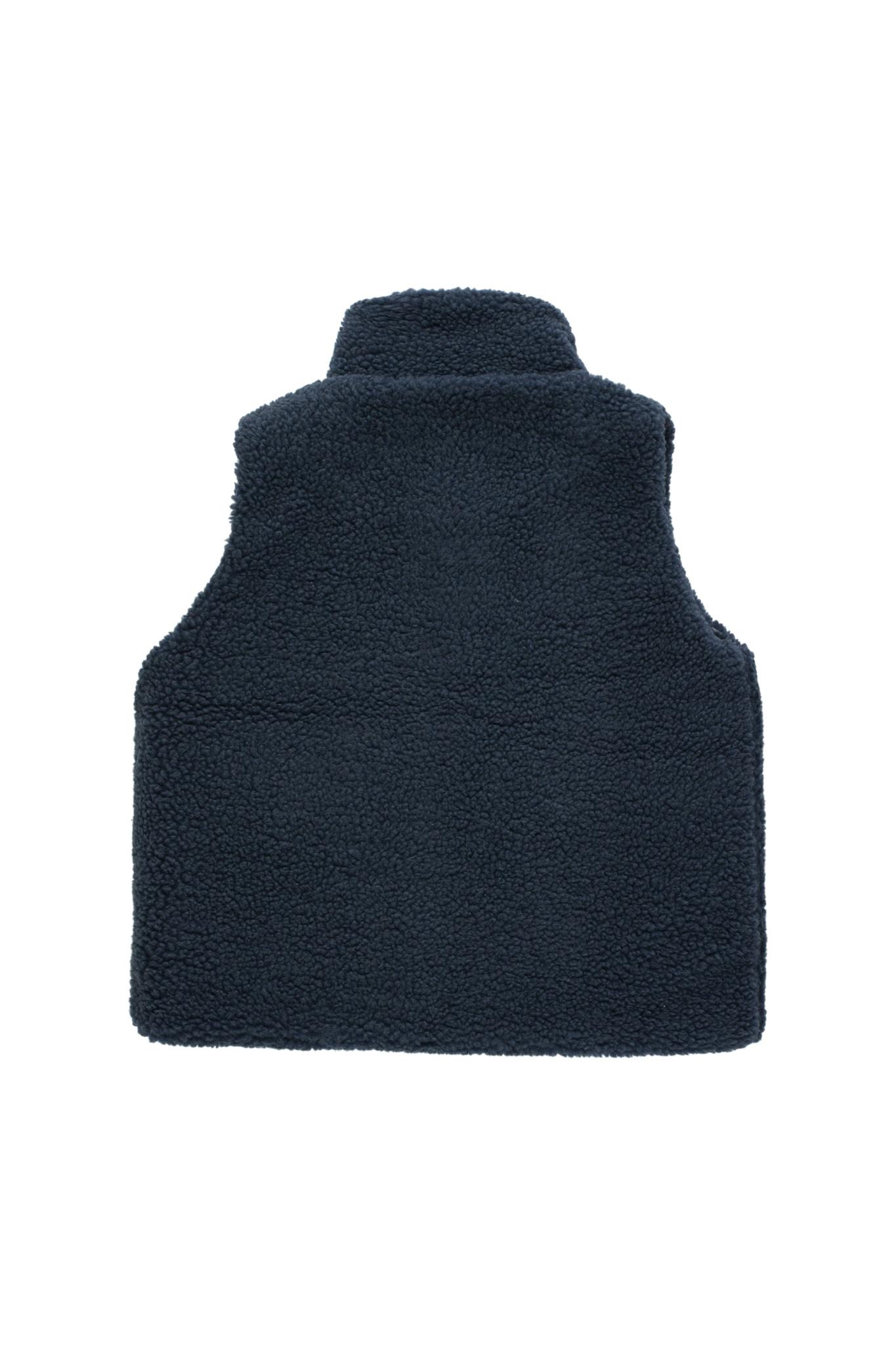 Tiny colorblock Sherpa vest - Navy-3