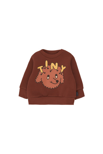 Tiny Dog sweatshirt - Dark Brown / Sienna