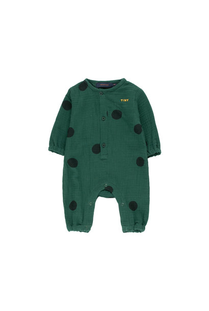 Big Dots onepiece - Dark Green / Black