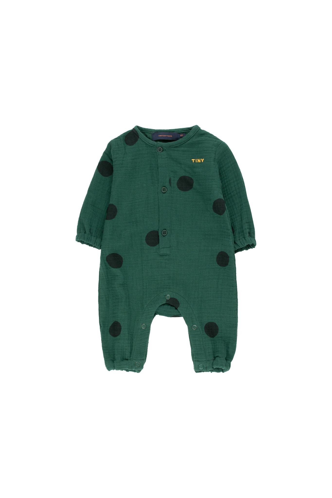 Big Dots onepiece - Dark Green / Black-1