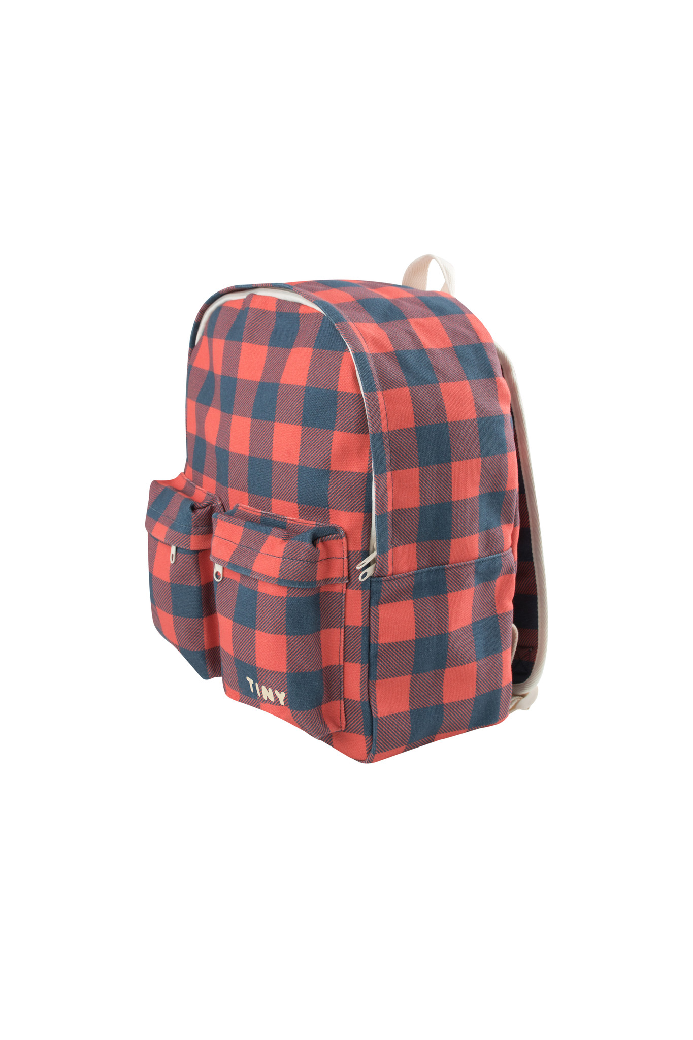 Check big Backpack / Navy Red-3