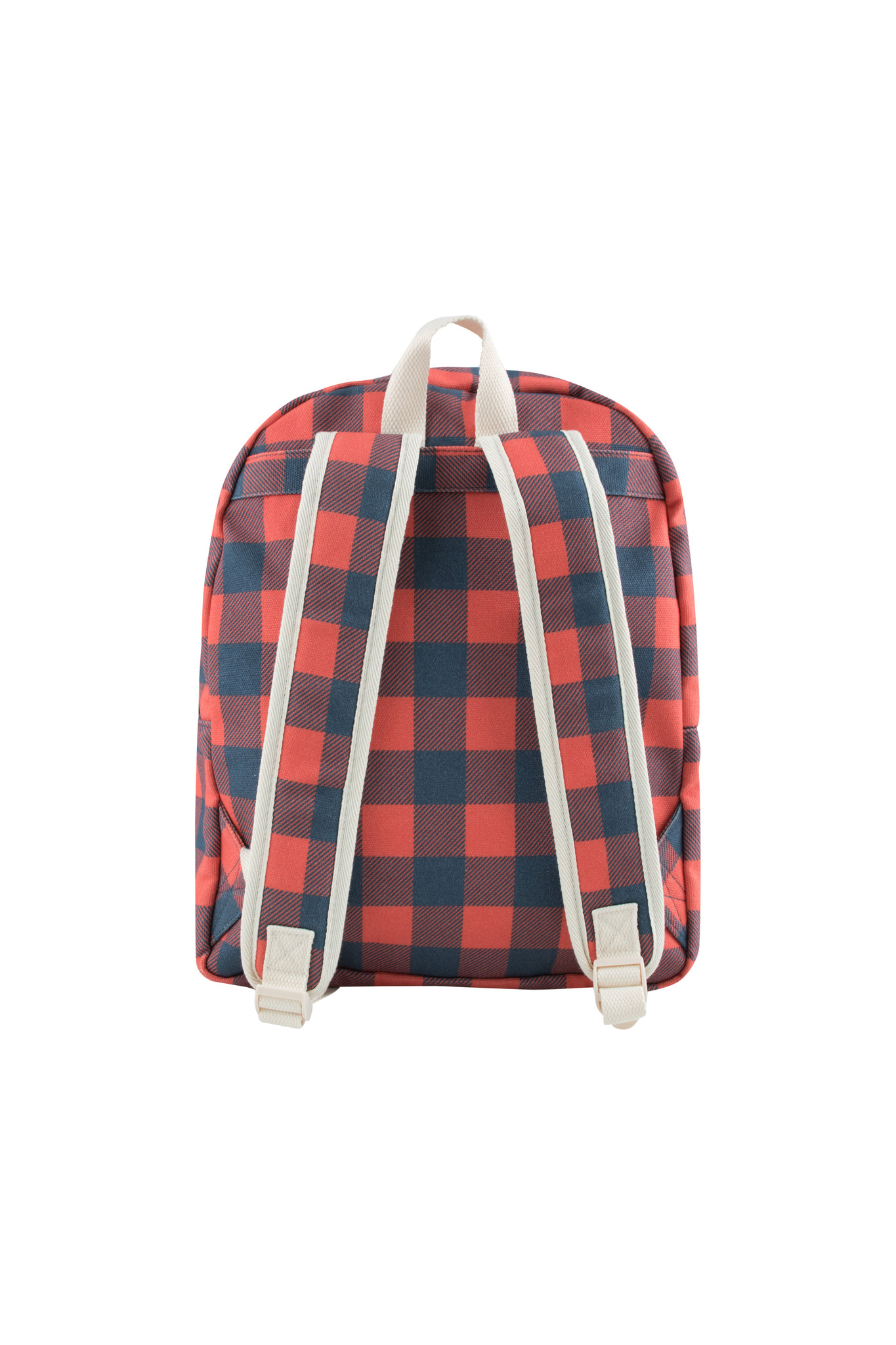 Check big Backpack / Navy Red-4