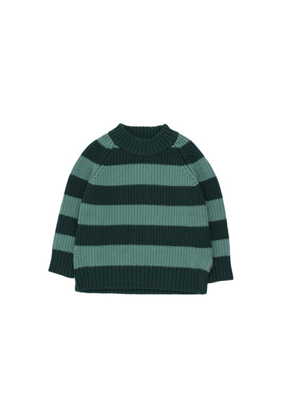 Stripes sweater - Dark Green / Pistacchio