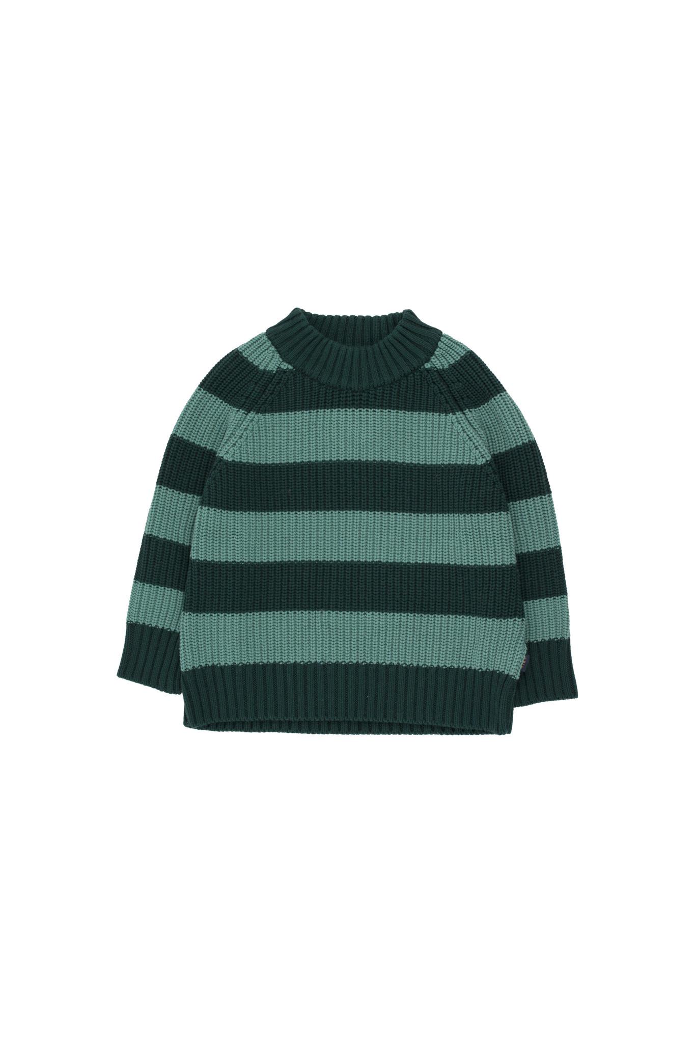 Stripes sweater - Dark Green / Pistacchio-1
