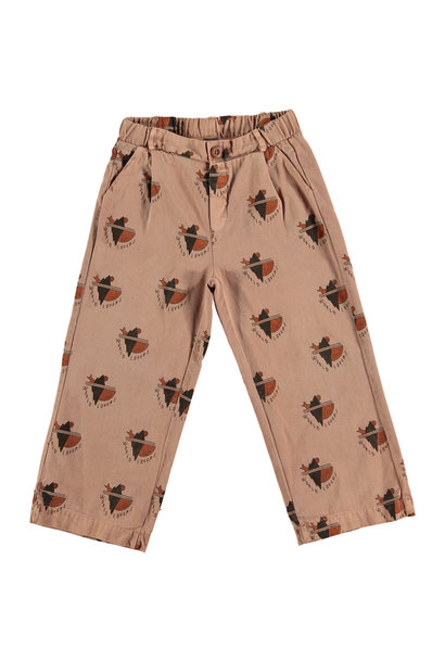 Trousers - All over world lovers Wood