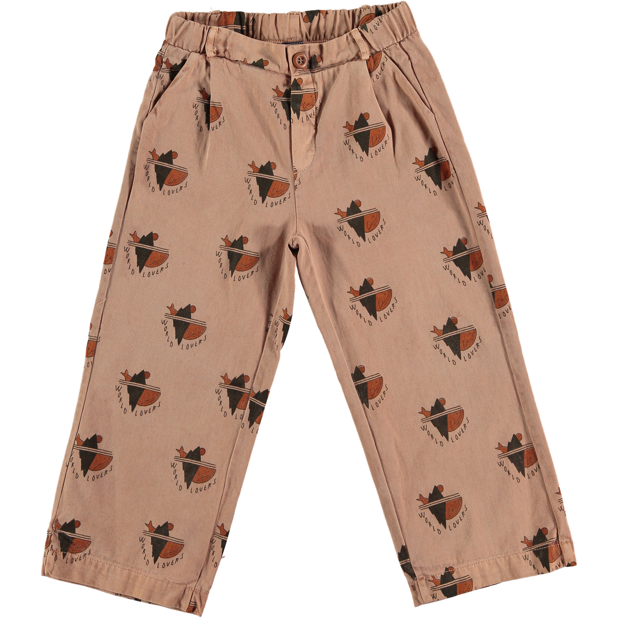 Trousers - All over world lovers Wood-1
