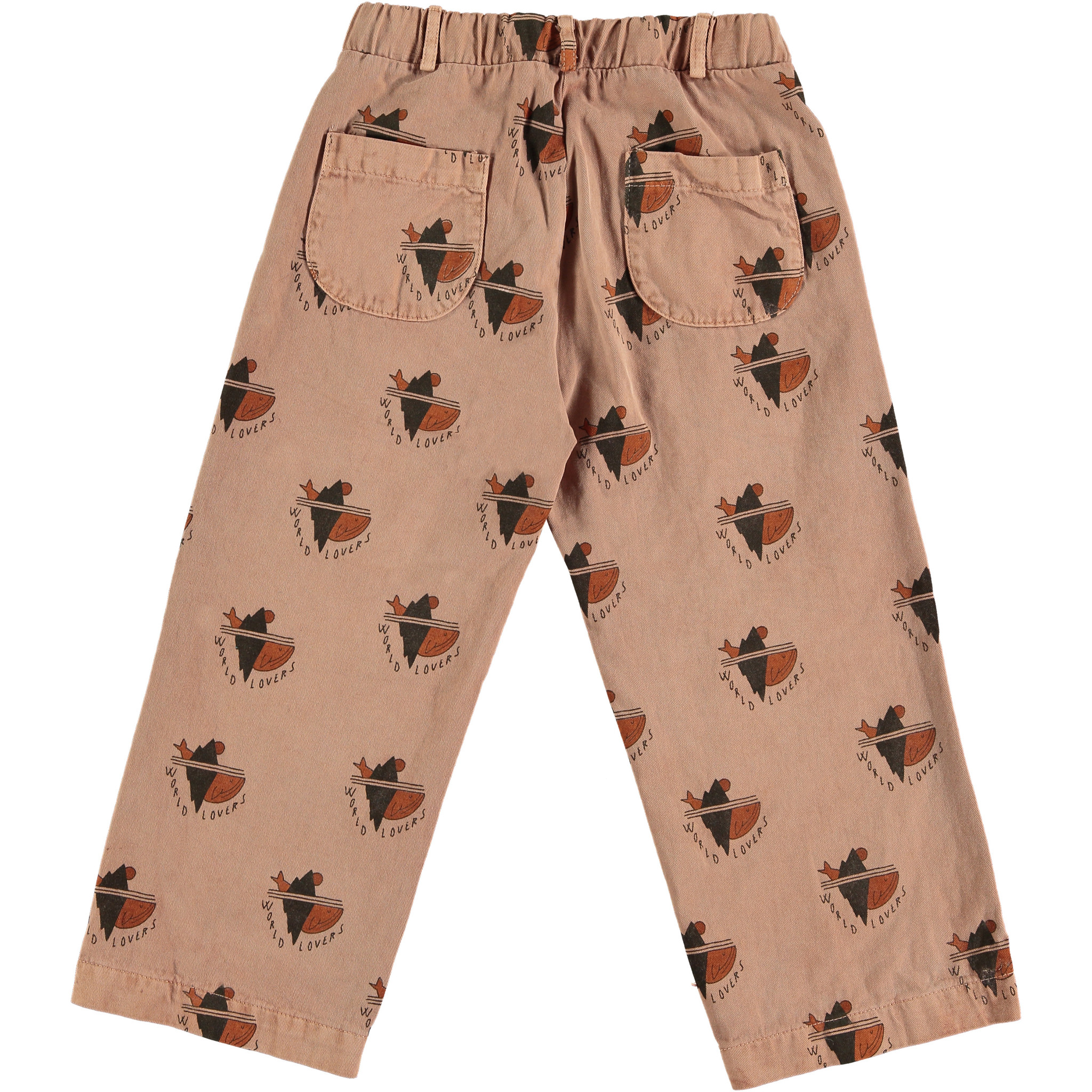 Trousers - All over world lovers Wood-3