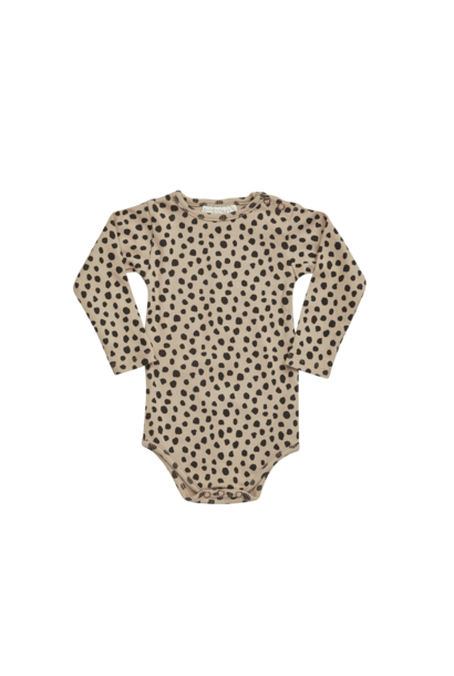 Body longsleeve - Animal Dot Warm Sand