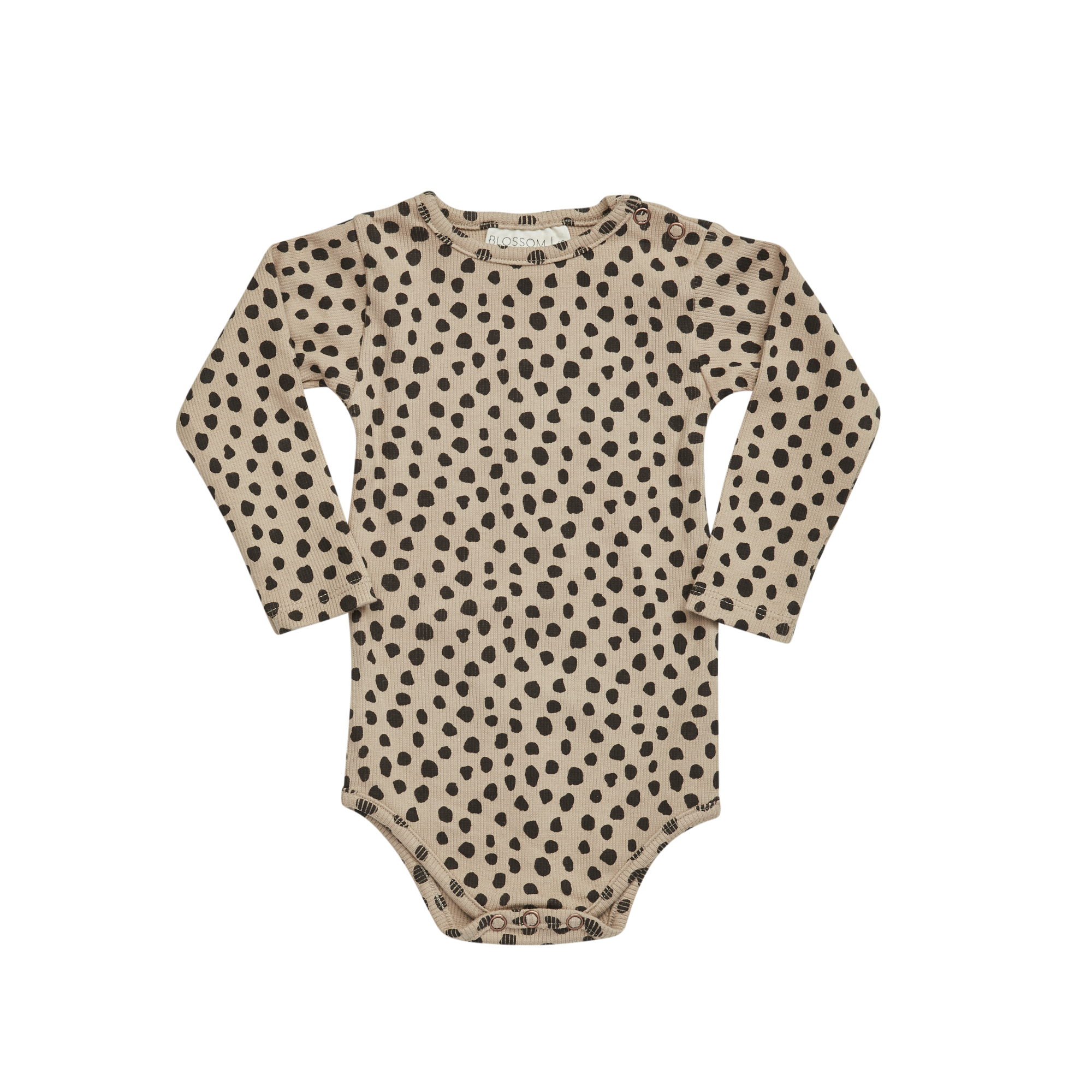 Body longsleeve - Animal Dot Warm Sand-1