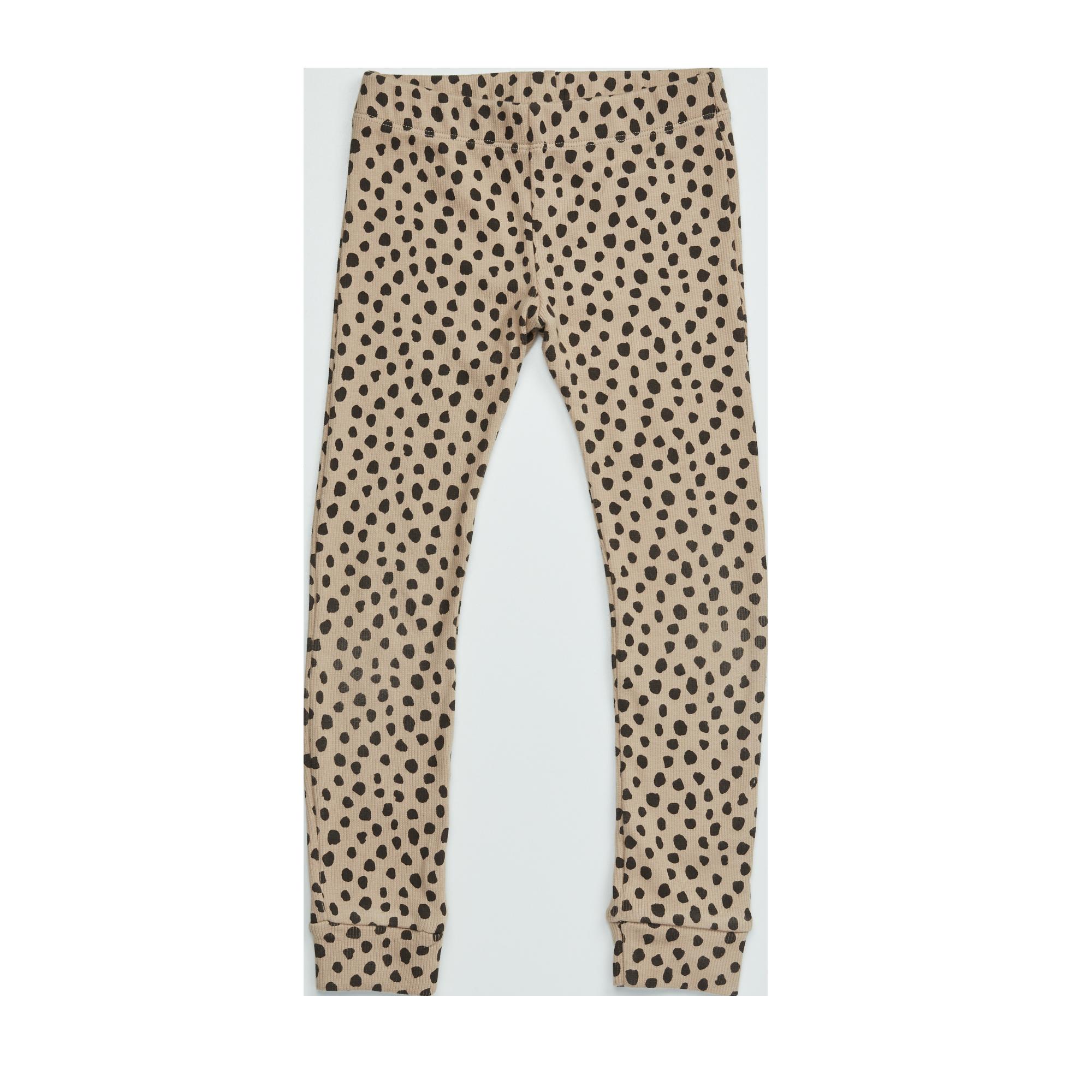 Legging Baby - Animal Dot Warm Sand-1