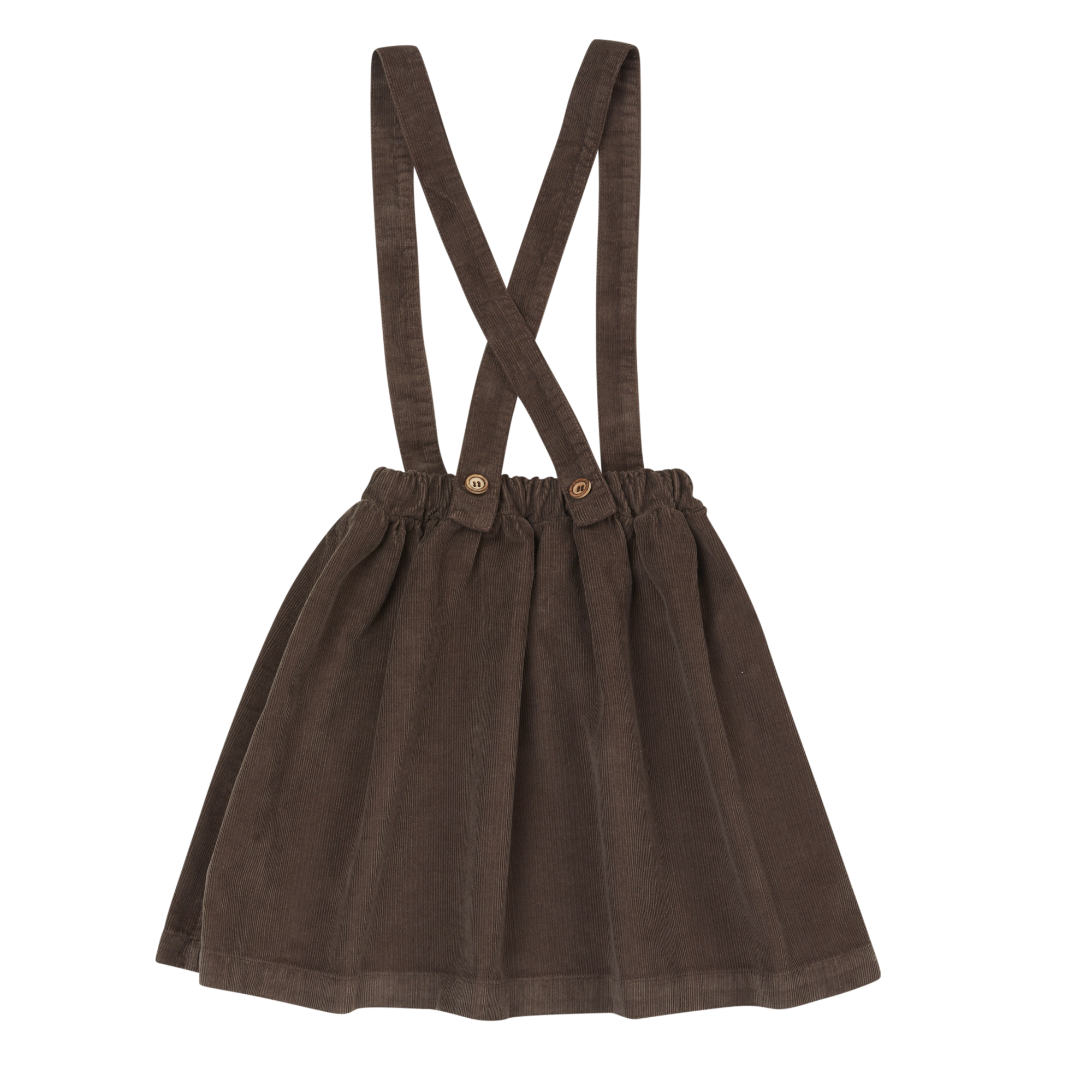 Suspender skirt - Dark Chocolate-3