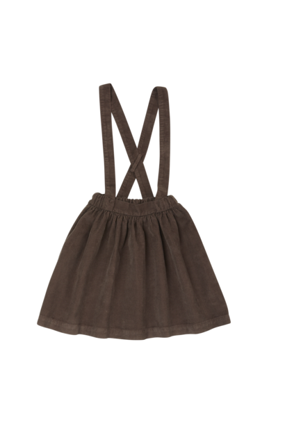 Suspender skirt - Dark Chocolate