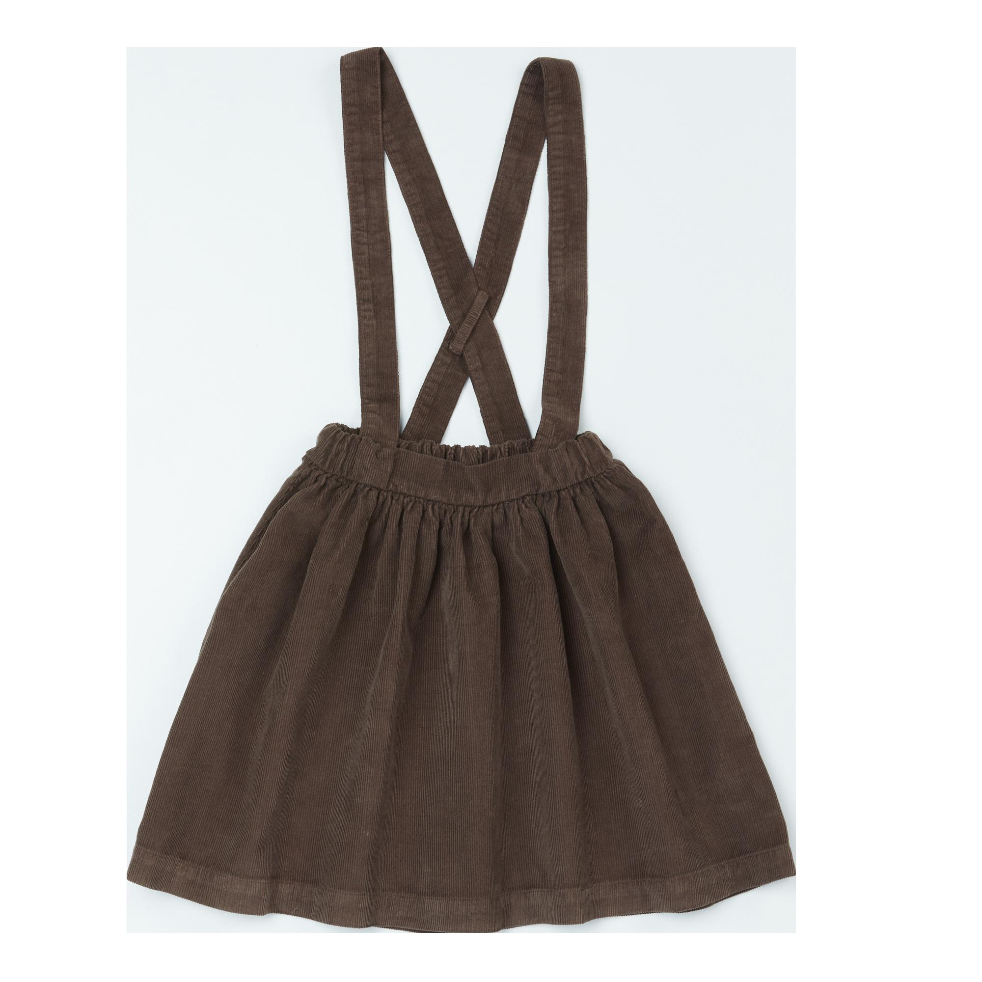 Suspender skirt - Dark Chocolate-1