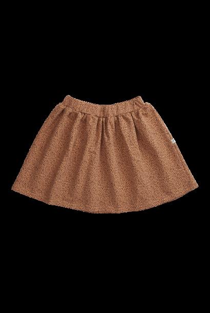 Skirt - Leave Drops Caramel Fudge