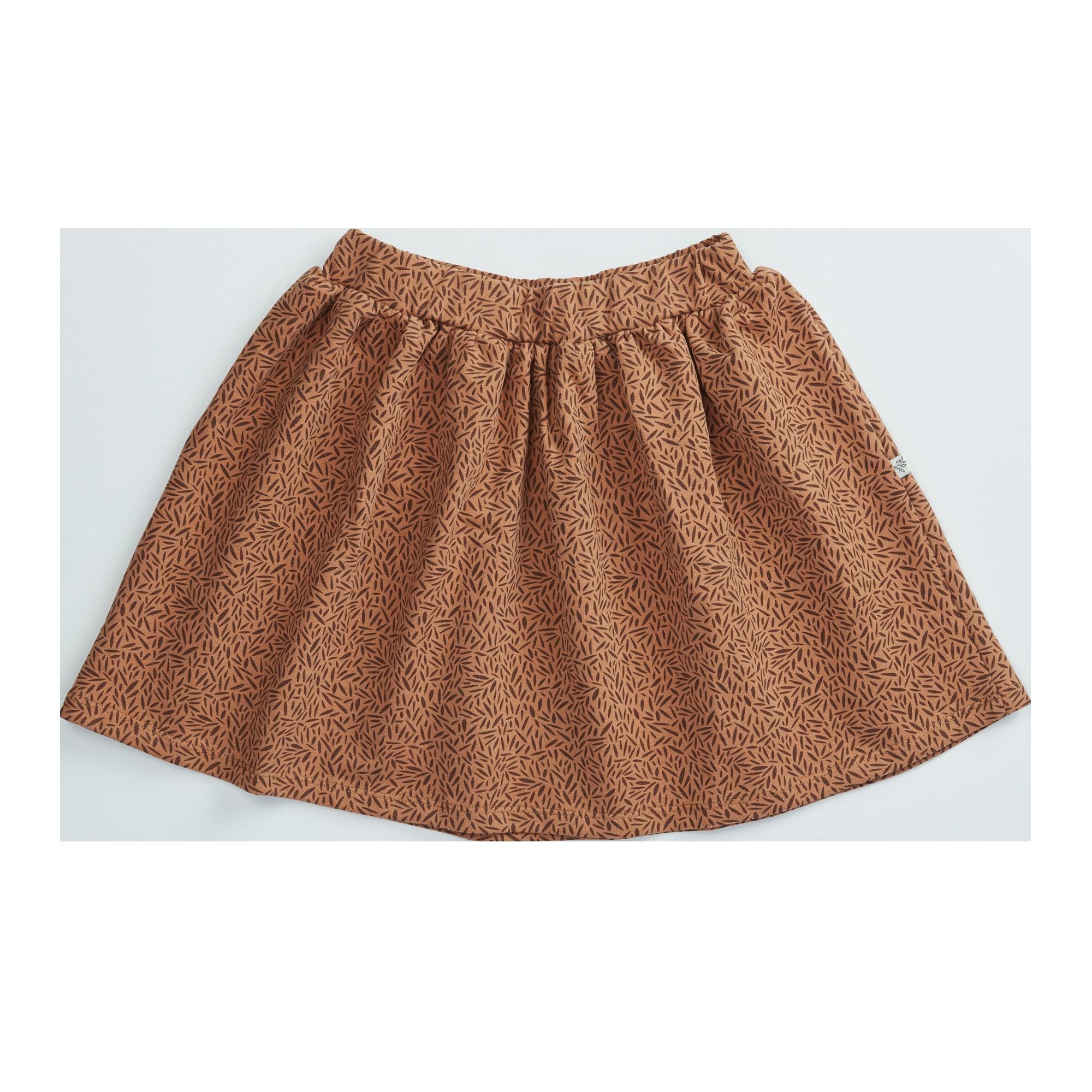 Skirt - Leave Drops Caramel Fudge-1