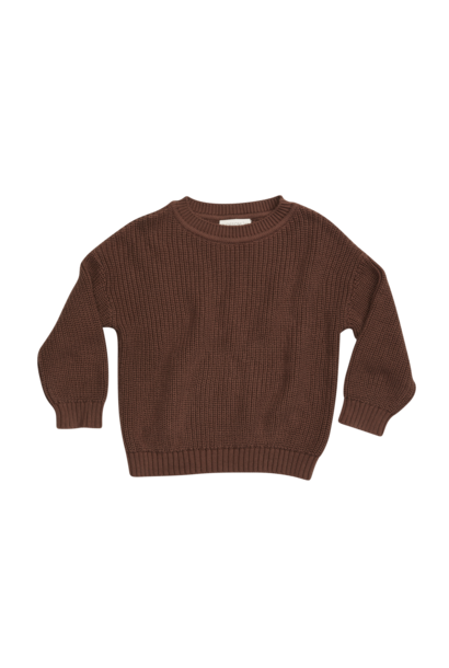 Knitted jumper - Dark Chocolate