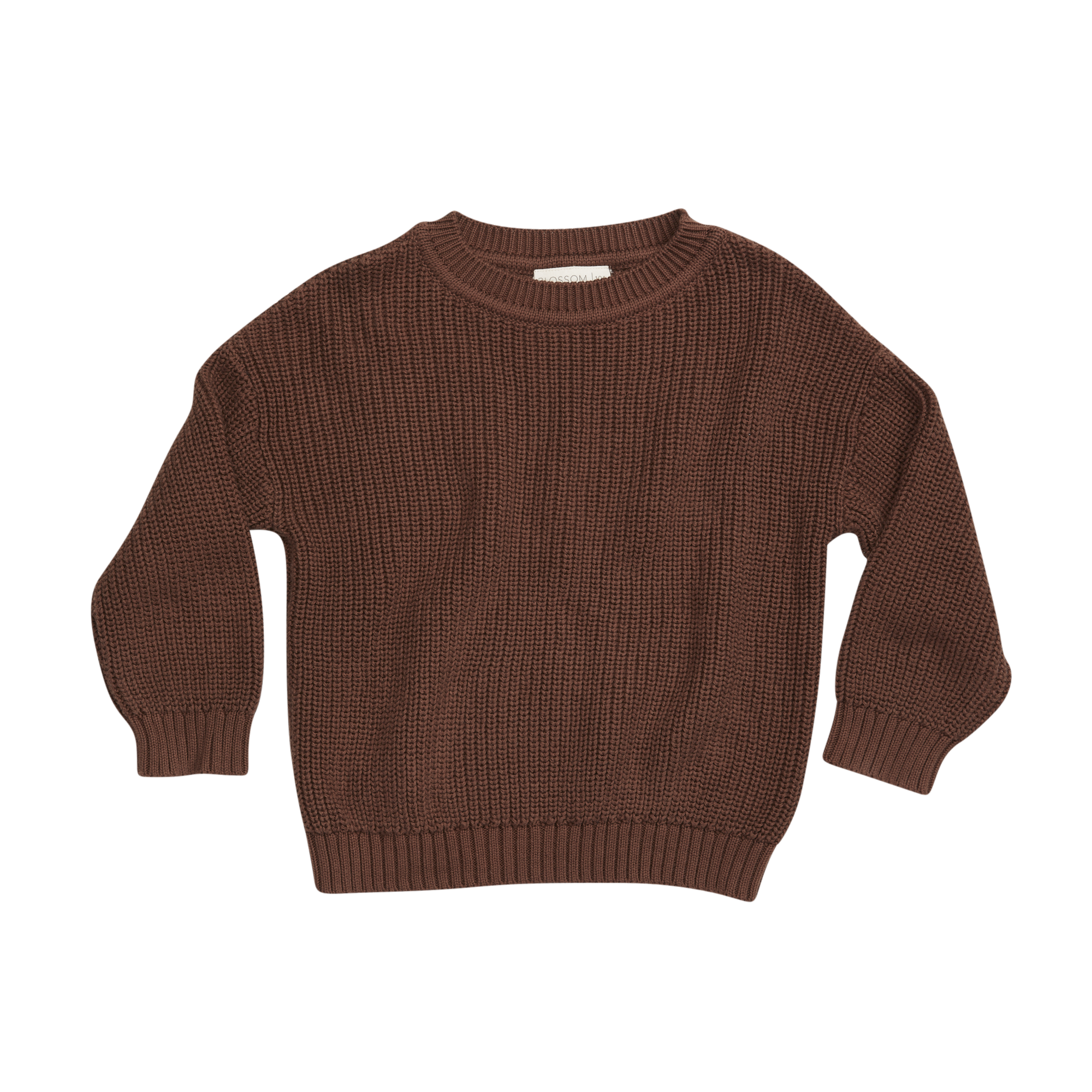 Knitted jumper - Dark Chocolate-1
