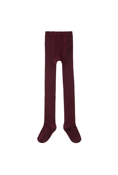 Tights rib - Plum