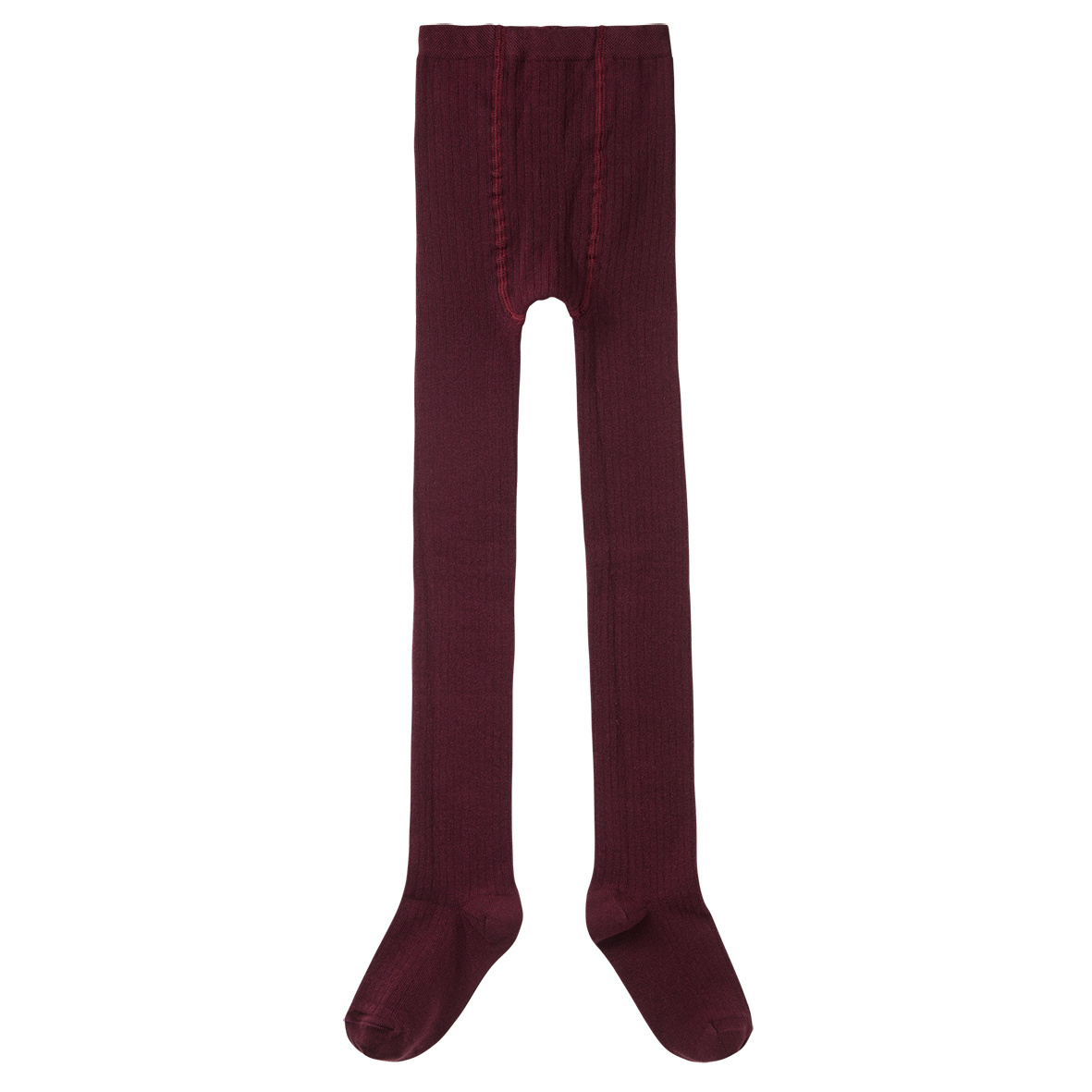 Tights rib - Plum-1