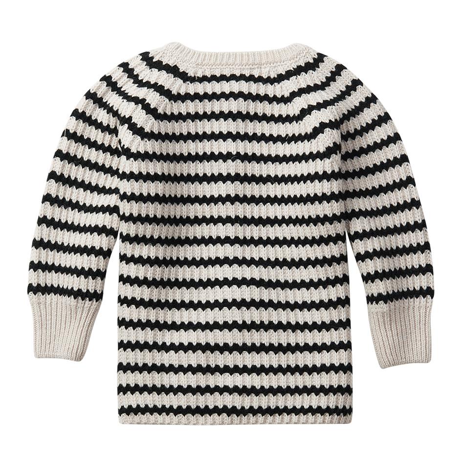 Baby cardigan - Stripes Black / White-3