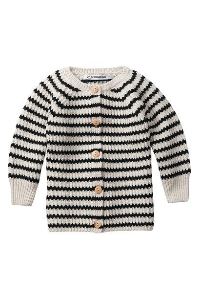 Baby cardigan - Stripes Black / White